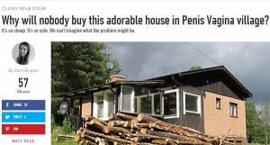 """Casa in vendita, nessuno la compra: si trova nel villaggio di """"Pene Vagina"""""""