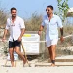 Marco e Fabio Borriello in vacanza a Formentera FOTO 5