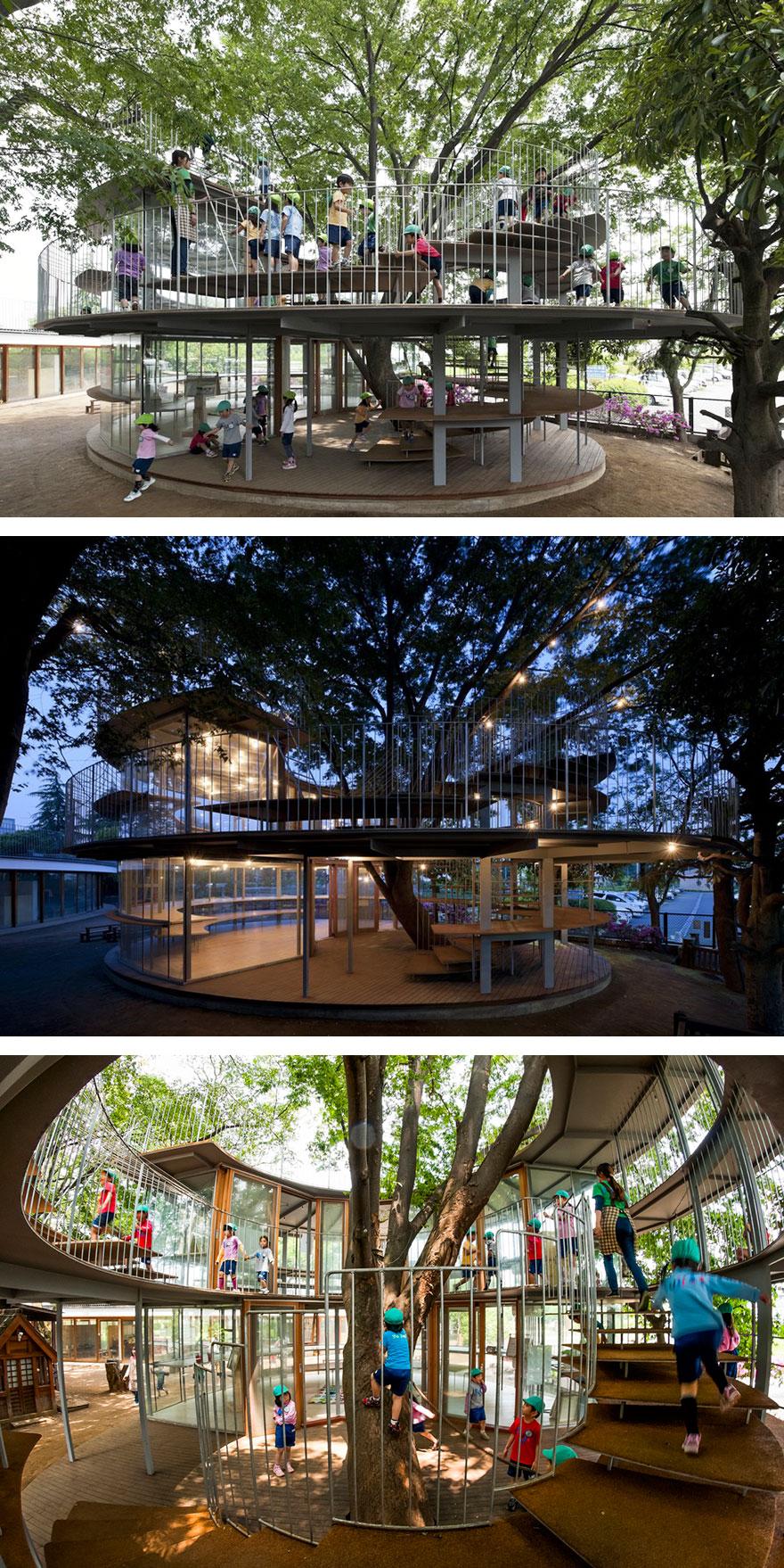 Gli edifici in cui gli architetti si sono rifiutati di tagliare gli alberi4