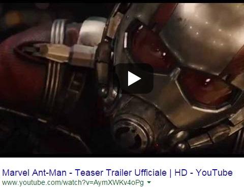 Ant-Man, trailer del nuovo film dei supereroi Marvel