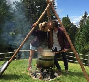 Michelle Hunziker, bacio con Tomaso Trussardi su Instagram FOTO
