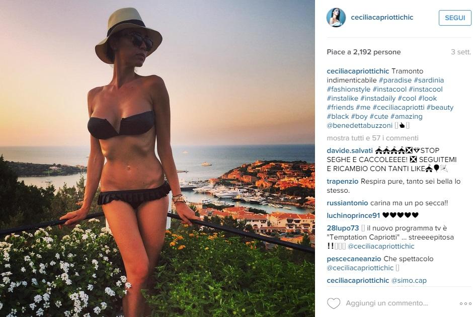 Cecilia Capriotti in bikini: su Instagram lato B in mostra FOTO