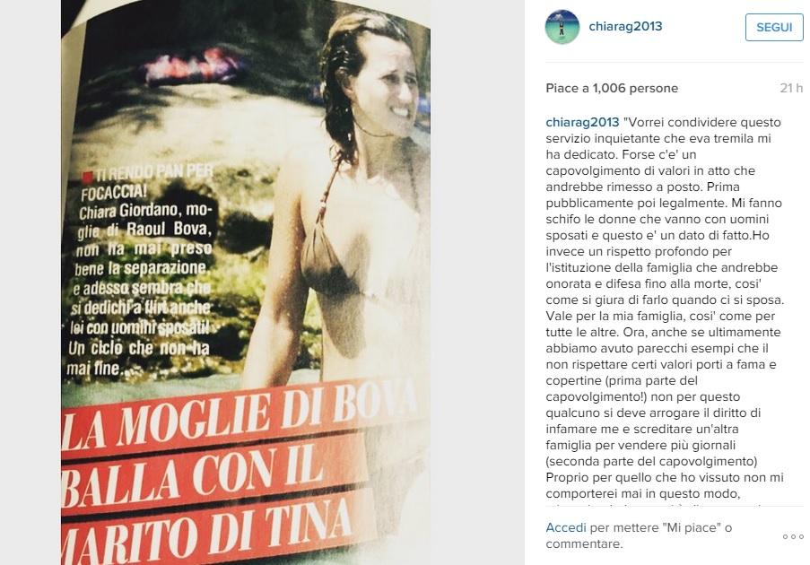 """Chiara Giordano: """"Mi fanno schifo le donne che vanno con uomini sposati"""""""