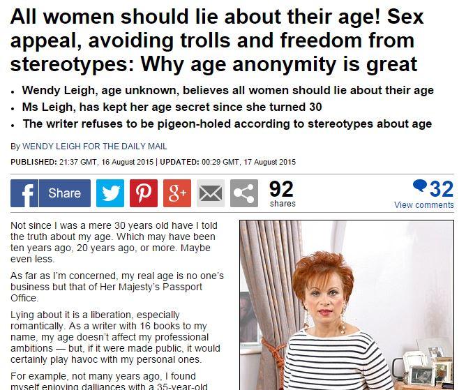 Donne, non rivelate mai la vostra età: sarete più affascinati