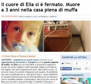 """Muore a 3 anni in attesa di trapianto: """"Viveva nella muffa"""""""