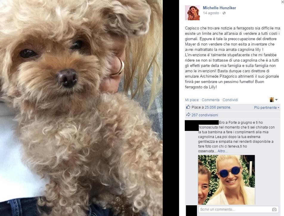 Michelle Hunziker, cane nella sabbia: gioco diventa caso
