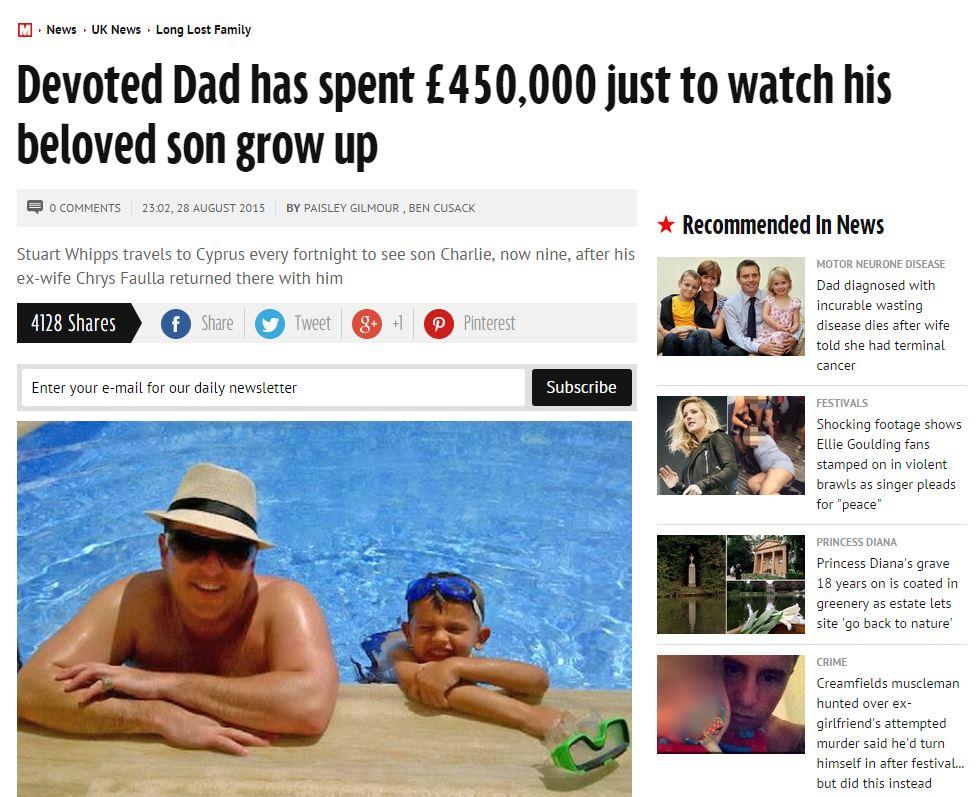 Padre lontano dal figlio, in 7 anni 600mila € spesi per vederlo