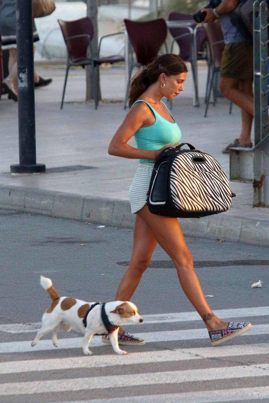 Belen Rodriguez e la sorella Cecilia lasciano Formentera FOTO 15