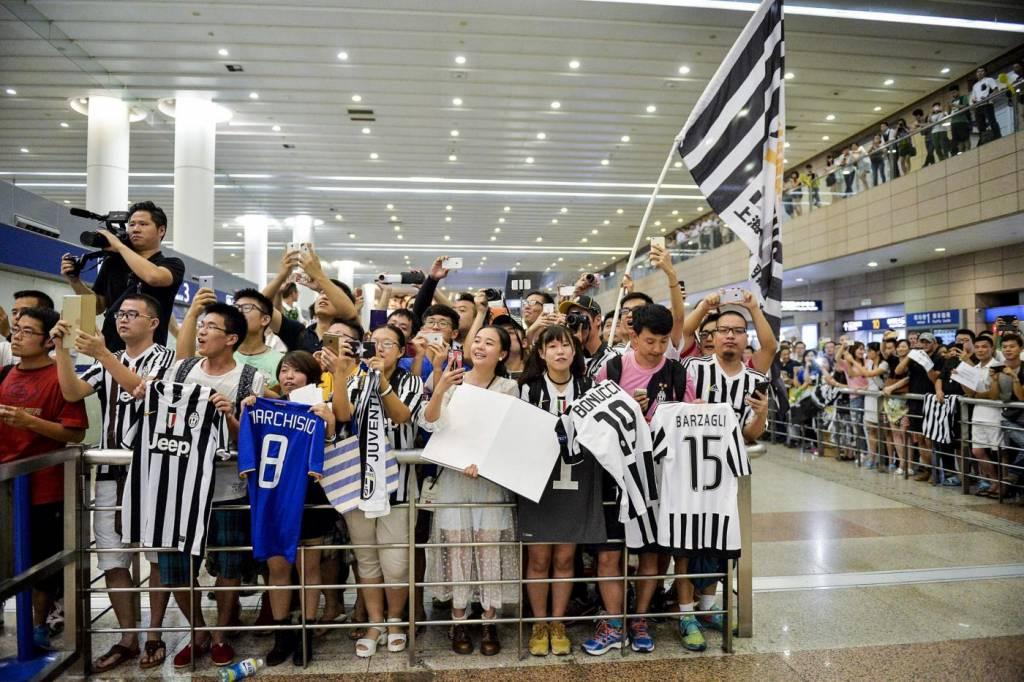 Marchisio, Buffon, Llorente, Pogba a Shanghai: arrivo in aeroporto FOTO