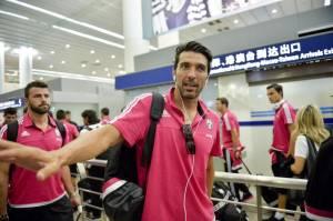 Marchisio, Buffon, Llorente, Pogba a Shanghai: arrivo in aeroporto FOTO 6