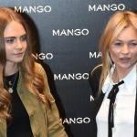 Kate Moss e Cara Delevingne da Mango a Milano FOTO 1