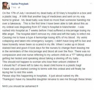 """""""Dopo aborto mi hanno dato feto in una busta"""": denuncia choc"""
