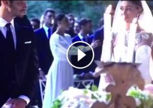 Belen Rodriguez, ecco il video delle nozze con De Martino