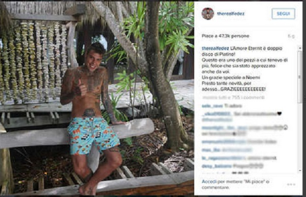 Fedez e la fidanzata Giulia: fine di un amore? FOTO Instagram