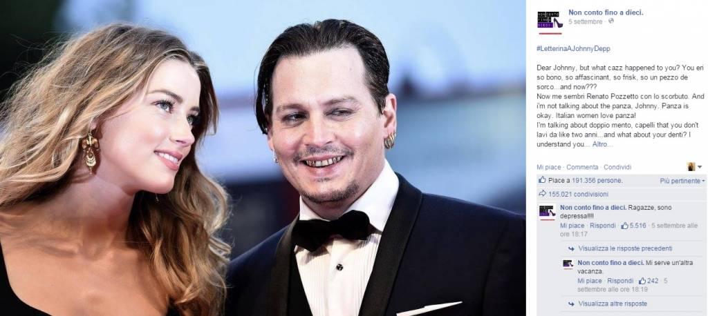 """Johnny Depp deriso sul web, addio bad-boy: """"Sembra Pozzetto"""""""