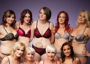 Donne con malattia di Crohn posano in lingerie