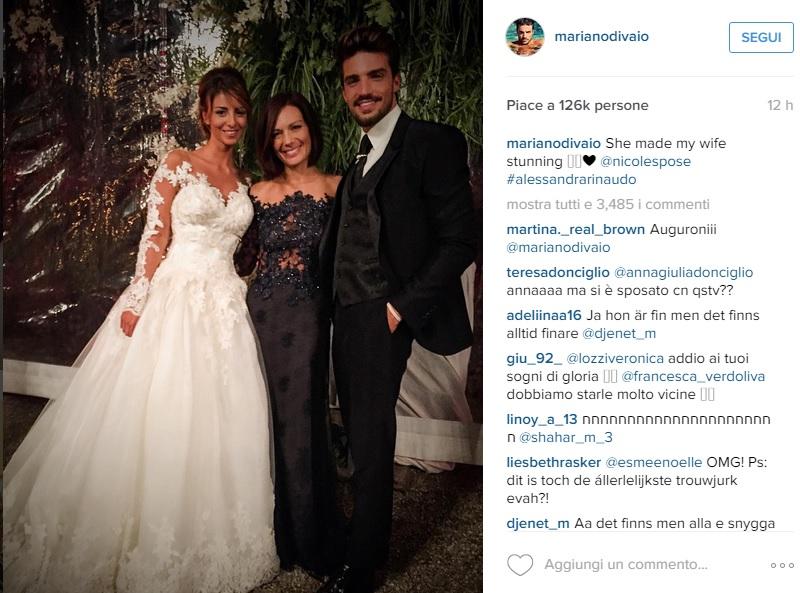 Mariano Di Vaio sposa Eleonora Brunacci: gli abiti FOTO
