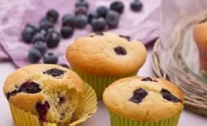 Ricette di dolci: muffin ai mirtilli