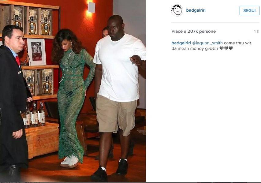 Rihanna, vestito a rete trasparente firmato LaQuan Smith FOTO