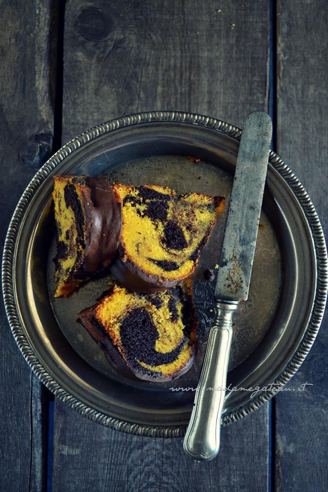 Speciale Halloween: Torta alla zucca e cioccolato marmorizzata