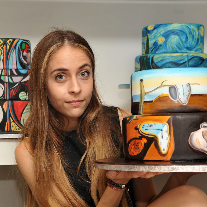 Cake art di Maria quadri famosi riprodotti su torte sacher6