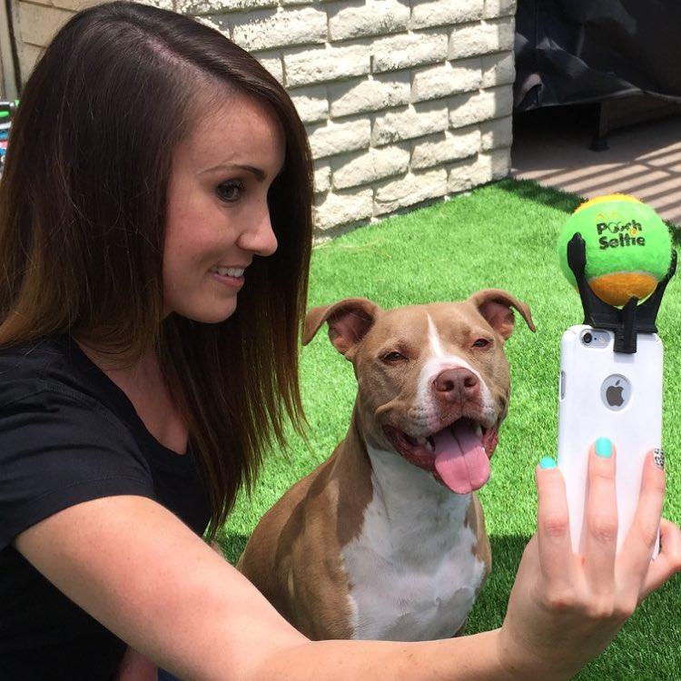Pooch Selfie, pallina su smartphone e il cane si mette in posa