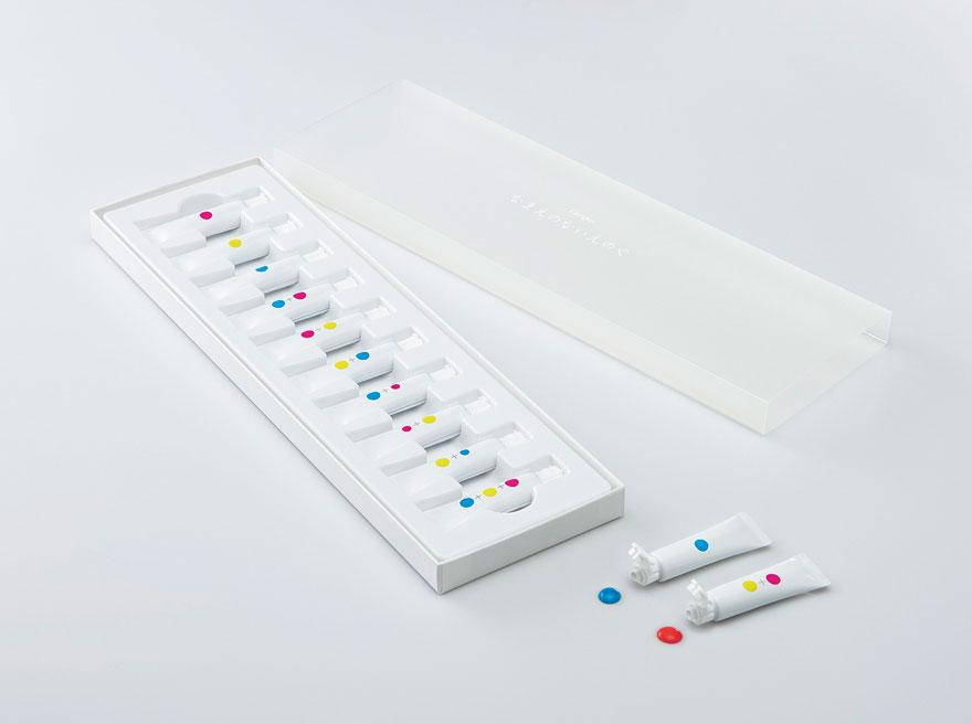 Tubetti di vernice che insegnano ai bambini ad usare il colore5