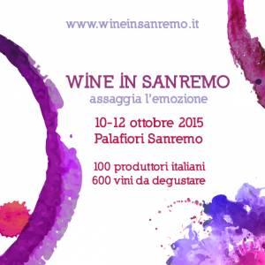 """I° edizione di """"Wine in Sanremo"""" nella famosa città dei fiori"""