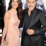Amal Alamuddin Clooney, vestito rosa glitterato a Londra FOTO 8