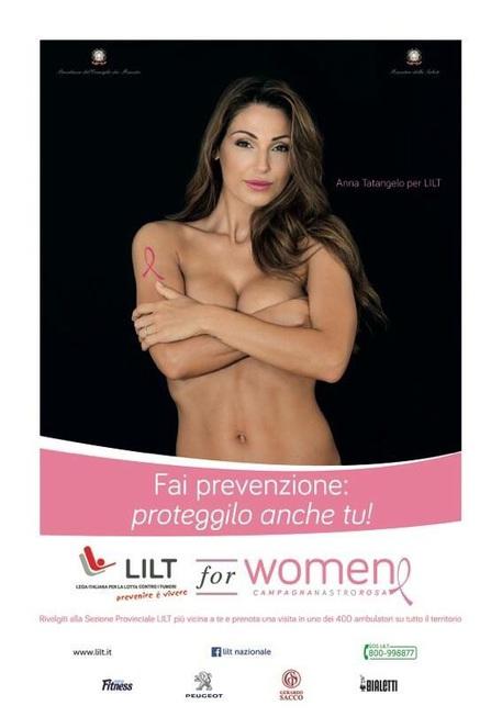 Anna Tatangelo nuda contro cancro al seno....e' polemica FOTO
