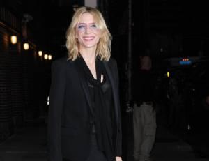 Cate Blanchett al Late Show