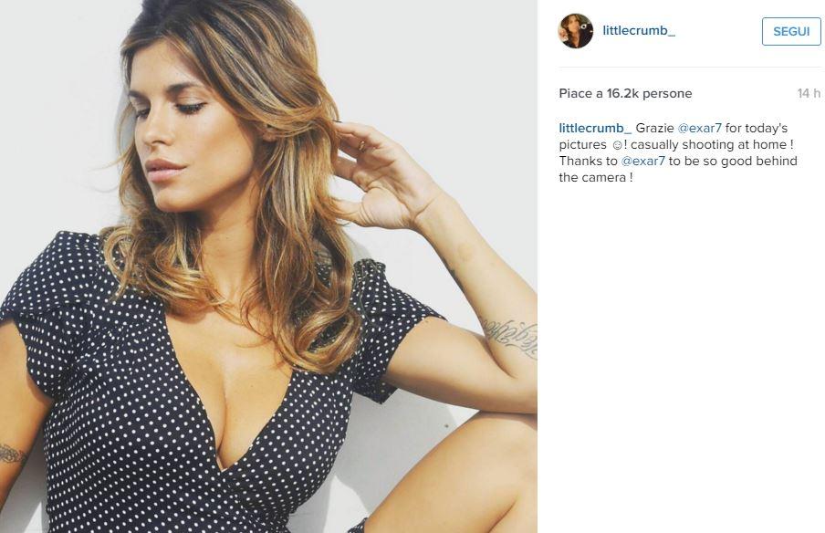 Elisabetta Canalis mamma sensuale: abito a pois scollato FOTO