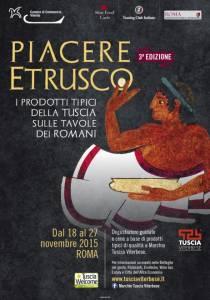 """""""Piacere Etrusco"""" i prodotti della Tuscia dal 18 al 27 novembre"""