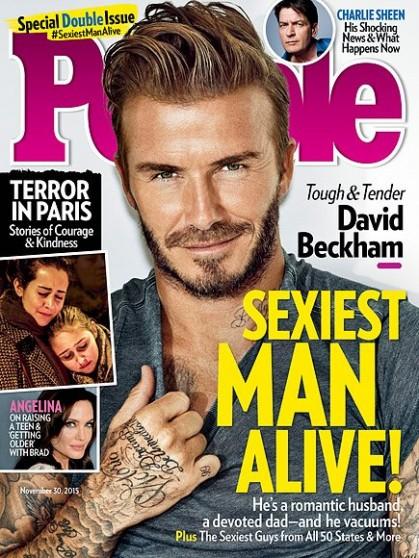 David Beckham l'uomo più sexy del mondo per People1