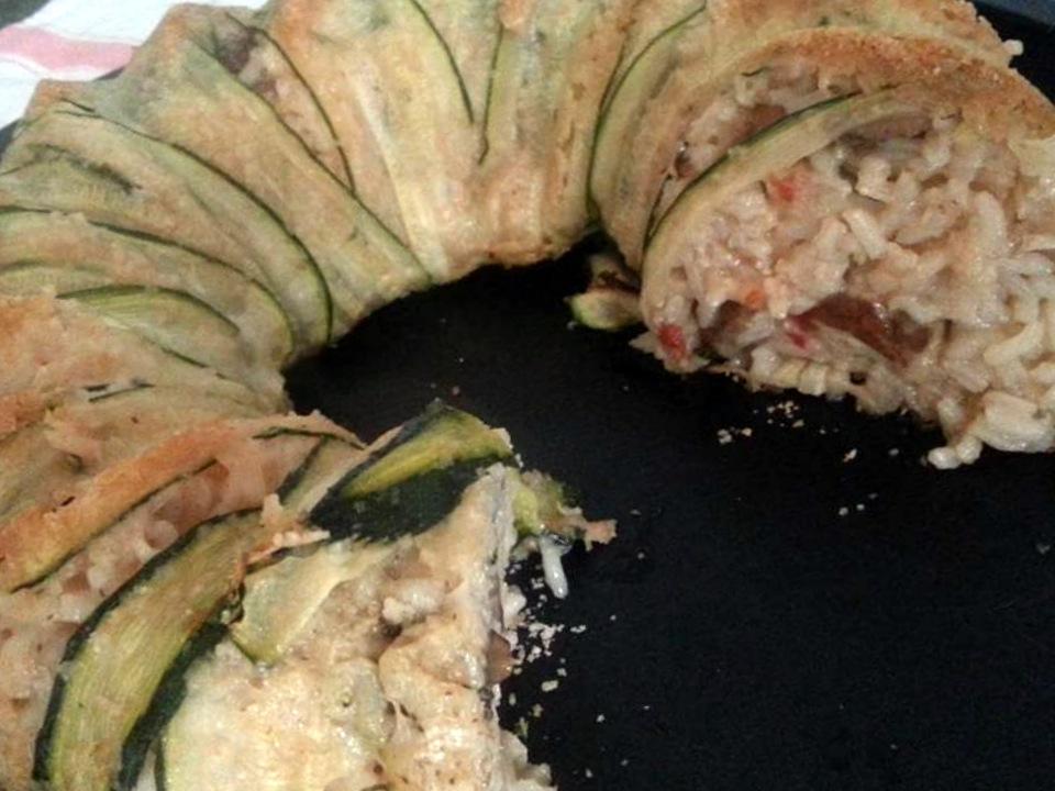 Ciambella di zucchine e riso ai fughi porcini