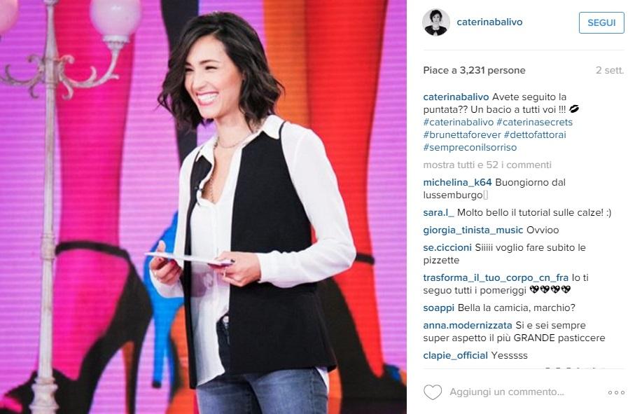 Caterina Balivo in Black and White aspettando Monte Bianco FOTO