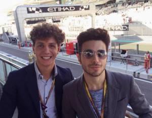 Gianluca Ginoble (Il Volo) vola a Abu Dhabi per il GP FOTO