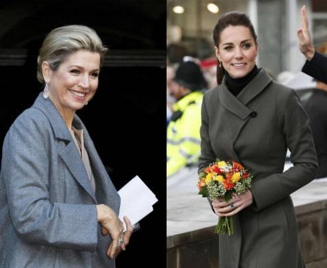 Kate Middleton-Maxima d'Olanda, cappottino all'ultima sfida FOTO