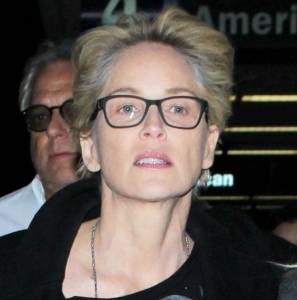 Sharon Stone senza trucco e capelli bianchi a vista FOTO 8