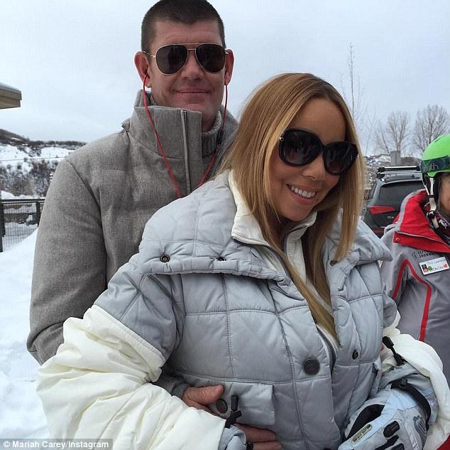 Mariah Carey gioca a palle di neve con i gemelli8