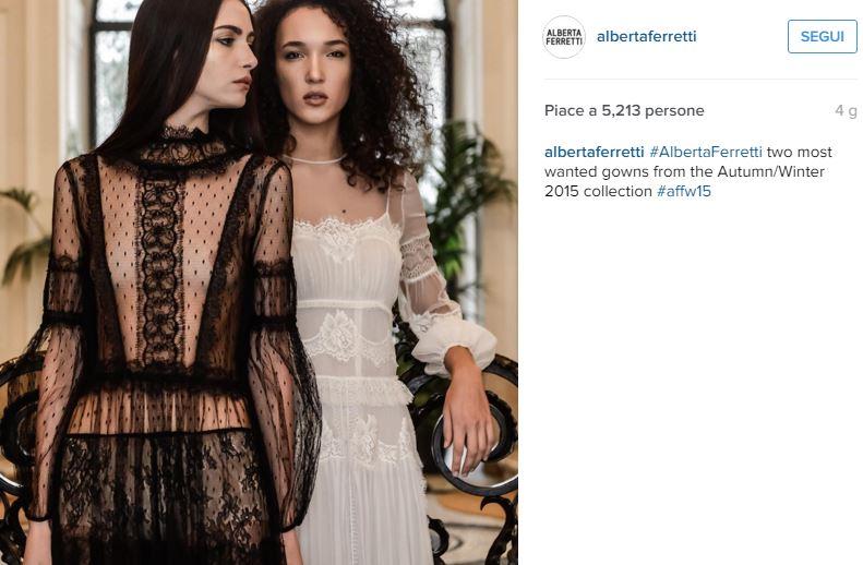 Alessia Marcuzzi, abito trasparente nero by Alberta Ferretti