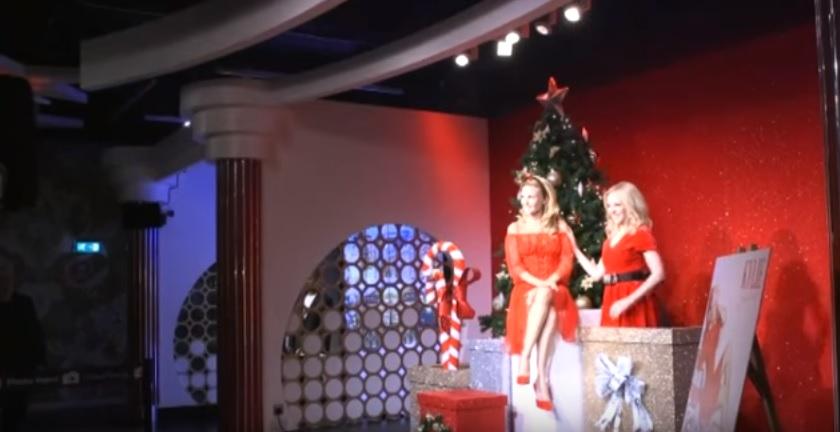 Kylie Minogue, statua cera natalizia al Madame Tussauds
