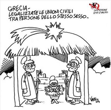 "Vignetta Natale ""rivede"" presepe: bufera sui social"