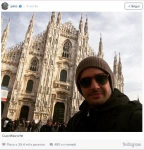 Pato, shopping a Milano con fidanzata Fiorella Mattheis