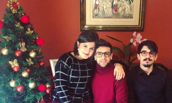 Il Volo, Piero Barone con la sorella e il fratello FOTO