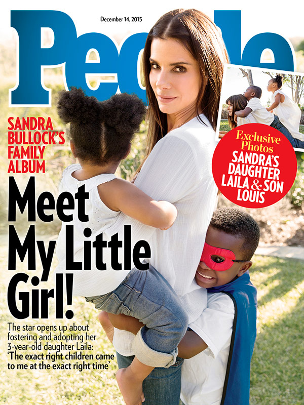 "Sandra Bullock si racconta su People: ""Ho adottato anche Layla""2"