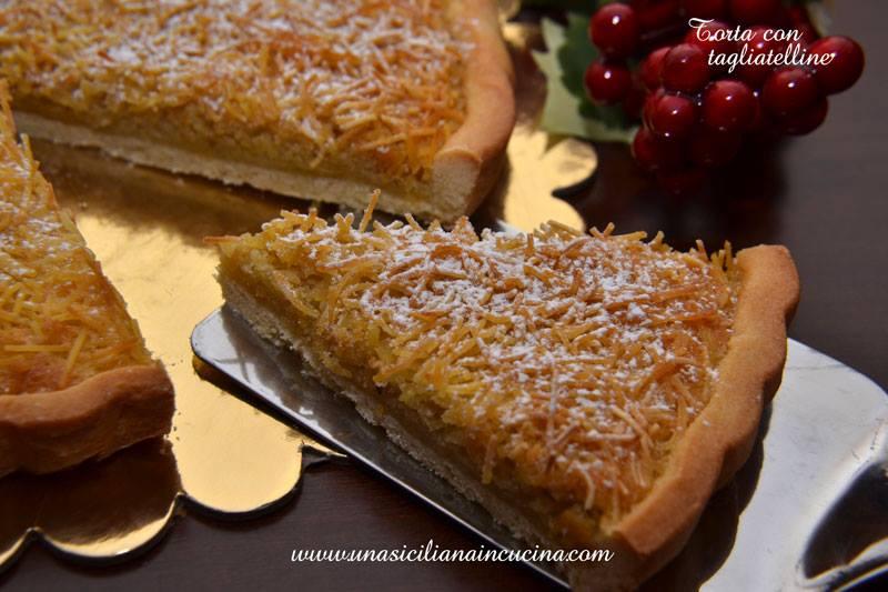 Torta di Tagliatelline, tipico dolce di Ferrara