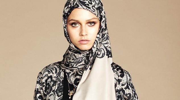 new product e0508 24375 Dolce & Gabbana modelle col velo: collezione per islamici9 ...