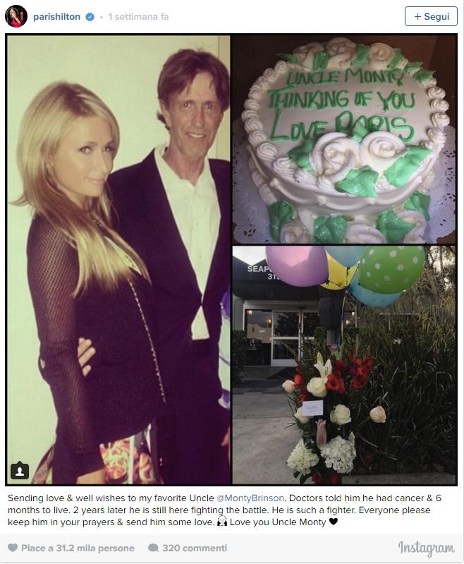 Paris Hilton in lutto è morto lo zio Monty Brinson2