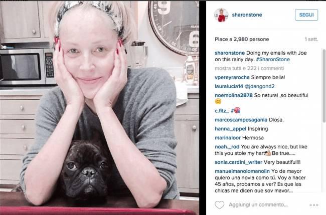 Sharon Stone senza trucco su Instagram: FOTO diventa virale
